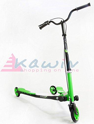 KAWIN Shopping on line BIPATTINO FLIKER - Monopattino 3 Ruote - Skateboard - Skate (Verde)