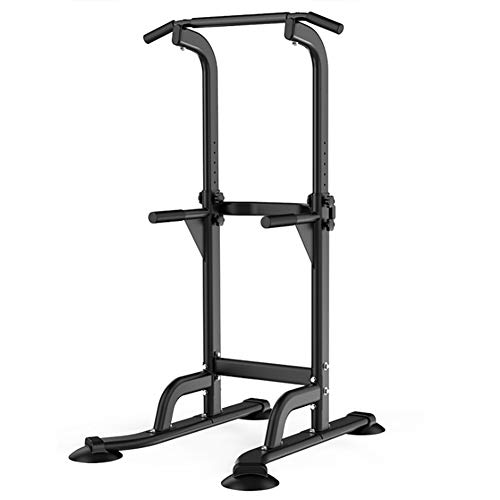 Multifunctional Power Tower Adjustable Heights Workout Dip Station for Adults and Kids Home Gym Strength Training Fitness Equipment