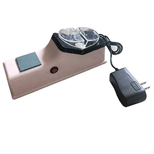 nobrands Afilador De Cuchillos Eléctrico, Utilizado para Afilar Las Hojas del Afilador De Cuchillos Blanco