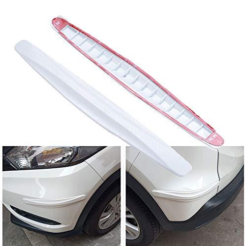 uxcell 4 in 1 Universal Auto Car Door Side Edge Guard Bumper Trim Sticker Protector White