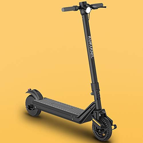 KUKUDEL Elektroroller, Faltbarer E-Scooter für Erwachsene und Jugendliche, 380W Motor, Multifunktionales LCD-Display, DREI Bremssystemen, Max Geschwindigkeit 25km/h, Reichweite 30km
