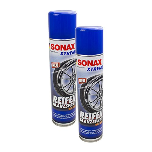 SONAX 2X 02353000 Xtreme ReifenGlanzSpray Wet Look Reifenspray 400ml