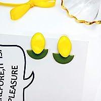 Row&ling韓国ファッション女性アクセサリー夏スウィートラブリ黄色キャンディータッセルのジオメトリブラブライヤリングのためのかわいいジュエリー イヤリング レディース
