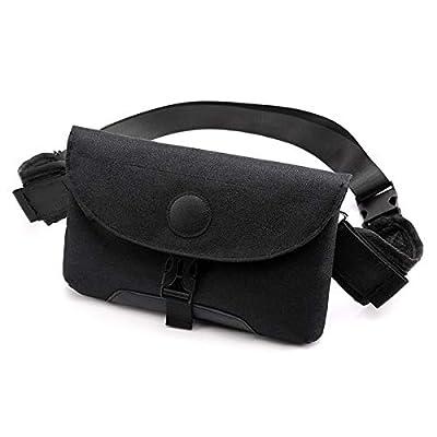 Vohoney Sac de Poitrine Sacoche Bandouliere Sac Bandouliere Cross Body Bag avec Chargement USB Sac Banane pour Sport Randonnée Cyclisme Homme et Femme (Noir Sac de Poitrine)