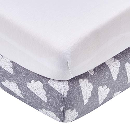 Snüz BD028DH Moses Basket & Pram Fitted Sheets, Pack of 2 - Star, mehrfarbig, 280 g