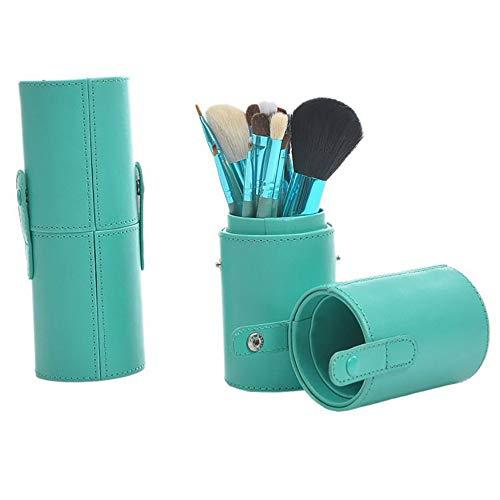 GKUKNONE-Brush Sets Blue 12 pinceaux de Maquillage avec Pinceau Brosse Seau Set de Maquillage Outils de Maquillage
