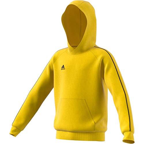 adidas Core 18 Hoody Sudadera con Capucha, Niños, Yellow/Black, 140