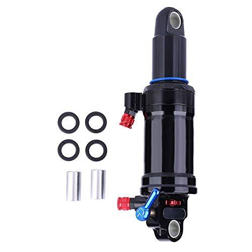 Alomejor - Suspensión de amortiguadores Traseros de Acero Negro para Bicicleta de montaña con Bloqueo