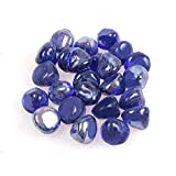 Reflective Fire Glass Gravel,Fire Gems,Fire Drops,Fire Glass Pebbles Stones Beads Chips for Fire Pit Fish Tank...