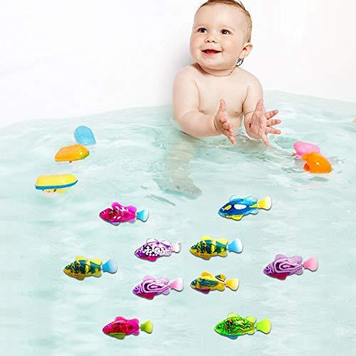 starte 4 Pcs Baby Badespielzeug, Electric Fish Schwimmroboter Fische Schwimmen Im Wassertank, Badewanne, Schwimmbad,Leicht Transparentes Badewanne Wasserspielzeug Für Kleinkinder Kinder