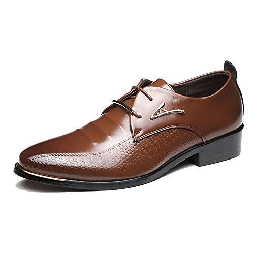 XI-GUA Herren Oxford Schuhe Leder Spitze Schuhe Low Toe urban Schuhe mit weichen Arbeitskleidung Schuhe
