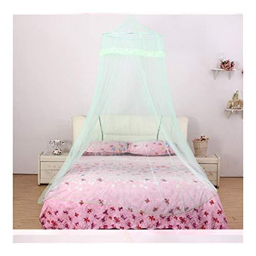 1pc 4 Couleurs Netting élégant dôme Anti-Moustique Insectes Rejeter moustiques Lit Solide Filet Rond Rose Reine Canopy Rideaux (Color : 03, Size : 60x270x1050cm)