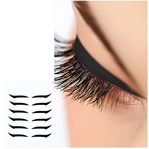 Reusable Eyeliner Stickers - 6 Pairs Adhesive Eyeliner Double Eyelid Tape Eyelid Stickers Natural Colorful Eye Line Strip Sticker Big Eye Decoration Eyeliner Eyeshadow Eye Sticker Makeup Tool (C)