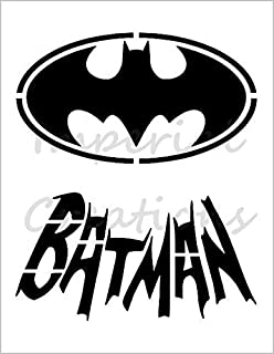 "/""SUPERMAN/"" S Logo Superhero Comic Cartoon 8.5/"" x 11/"" Stencil Sheet NEW S360"