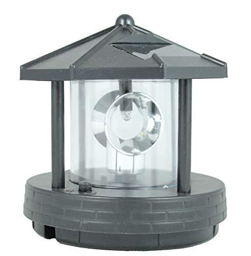 colourliving Leuchtturm Leuchtturm Ersatzkopf für Deko Solar Leuchttürme mit Leuchtfeuer drehbar Solarkopf Ersatzteil
