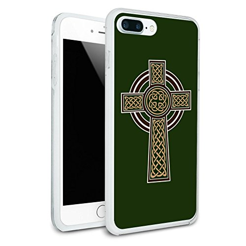 Celtic Christian Cross Irish Ireland Protective Slim Fit Hybrid Rubber Bumper Case for Apple iPhone 7 Plus