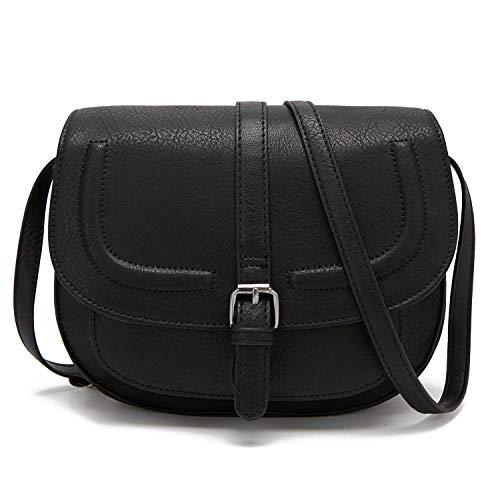 Lzpzz Bolsas de Cruce de Mujer Bolsos de Silla de Montar Bolsa de Bolsa Tote Bolsos de Hombro Black (Color : Black)