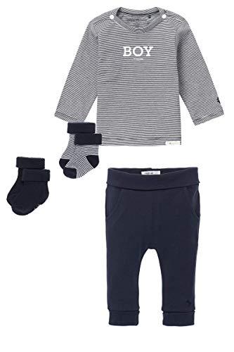 Noppies Juego de 3 piezas de lujo para bebé, chaqueta de punto para regalo, camiseta + pantalones + calcetines, 3 juegos de lujo., 68 cm