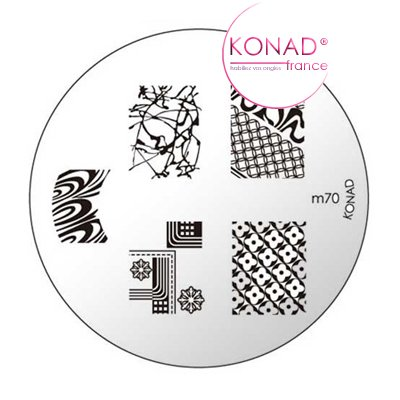 Plaque disque motifs M70 Konad - Stamping nail art