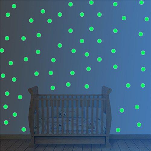 WOWOSS 253 Punti Adesivi Murali Stelle Luminose per il Muro e il Soffitto Decorazioni Divertenti per la Camera da Letto con la Luna, Glow In The Dark Stars