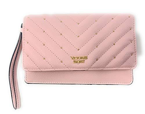 Victoria's Secret Tech Wristlet Wallet, V-Quilt Pink Studded