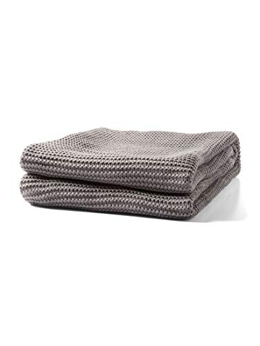 TOM TAILOR Unisex Home Decke aus Grobstrick Grey,130/170