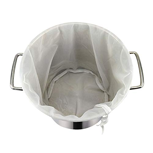12'x18' Drawstring Straining Brew in a Bag 75 Micron Nylon Jelly Strainer Wine Beer Brew Filter Bag