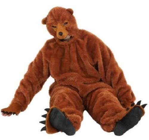 Fancy Me Brauner Bären-Jumpsuit für Herren und Damen, Halloween-Kostüm, Outfit