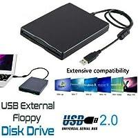 Meiyiu Unidad de Disquete Externa portátil de 3.5 Pulgadas Unidad de Disco USB 2.0 Lector de 1.44Mb PC portátil con PC FDD