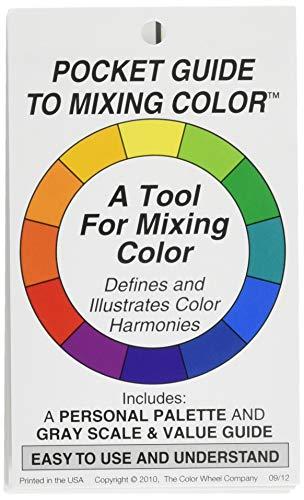 Color Wheel - Guía para Mezclar Colores, diseño con Texto en inglés