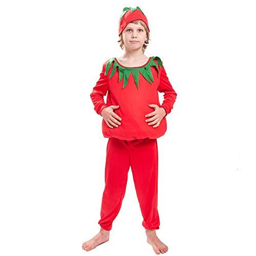 gousheng Disfraz Cos Disfraz De Tomate Disfraz De Disfraz De Vegetal Disfraz De NiñOs Disfraz De Escenario Disfraz De Fruta Y Verdura Disfraz De Tomate Rojo Grande