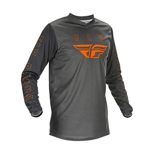 Fly Racing Adult F-16 Motorsports Jersey, Grey/Orange, Medium