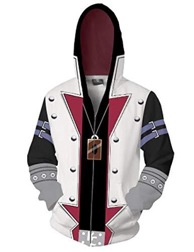 Gmoke Unisex Duel Monsters Seto Kaiba Cosplay 3D Printed Zipper Hoodies, Mans Long Sleeve Sweatshirt Costume Jacket Coat.(Style1-XL).2