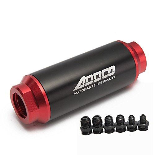 epman adf0990140micras filtro de combustible en línea negro & rojo & mount AN10AN8AN6Universal alto flujo Turbo