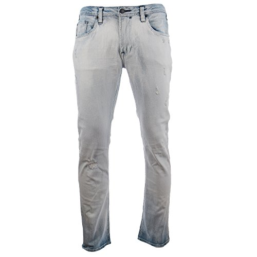 Buffalo Max-X Heavy Washed And Worn Jean Pant - Indigo - Mens - 36 x 32
