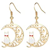 Ailin Online Sailor Moon Anime Menisco Luna Crescent Moon con Artemis/Luna Pendientes Cosplay Oreja...