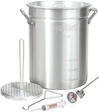Bayou Classic 3025 30-Quart Aluminum Turkey Fryer Pot with Accessories (Renewed)