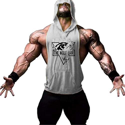 Cabeen Hombre Culturismo Camisetas con Capucha Stringer Tank Top Vest de Fitness Jogging