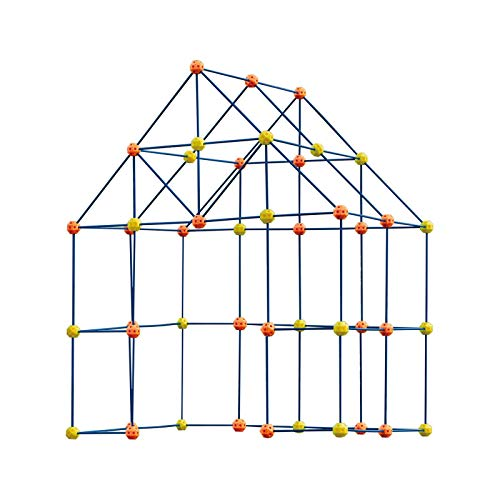 Jilijia Fort Building Kit for Kids, 158 Piece Play Tent Kit Fort Construction Set, Fort Building Set Play Tent Rocket Castle, Forts Construction Builder Giocattoli Regalo per Ragazzi E Ragazze