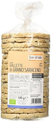 Fior di Loto Gallette di Grano Saraceno - 100 gr - [confezione da 6], Senza glutine