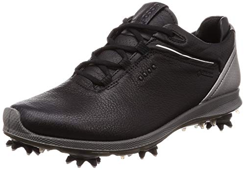 ECCO Women's Biom G 2 Free Gore-TEX Golf Shoe, Black Yak Leather, 41 M EU (10-10.5 US)