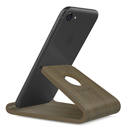 MoKo Smartphone Soporte Universal - Portátil Cell Phone Stand Holder De Madera Wood para iPhone 11 Pro MAX, iPhone 11 Pro, iPhone 11, Galaxy Note 10 Plus 6.8
