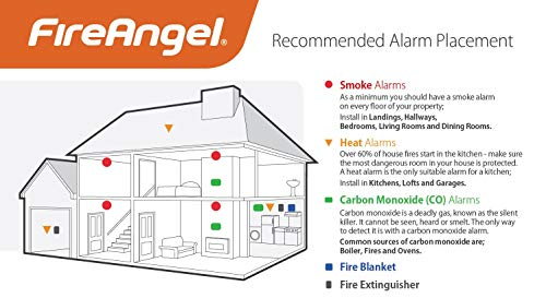 FireAngel TCO-9XQ Carbon Monoxide Alarm (Sealed for Life Battery)
