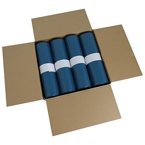Hossi's Wholesale Abfallsäcke, 10 Rollen à 25 reißfeste Müllbeutel XXL, Müllsäcke blau, Mülltüten extra stark, 120l, 700x1100mm