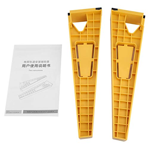 2 uds, Guía de cajón, guía de instalación de cajón, plantilla compacta, fácil de instalar, profesional y práctica para armarios, colocación de cajones