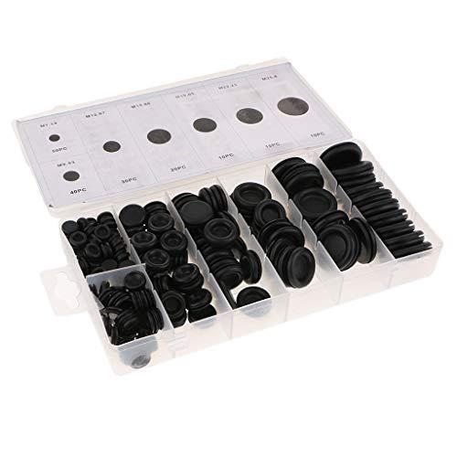 Homyl Kits de Joints électriques Assortiment D'œillets en Caoutchouc - 170pcs