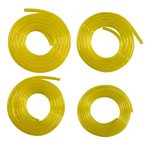 HIFROM Fuel Line Hose Tube (4 Size) 2mm x 3.5mm,3mm x6mm, 3mm x5mm,2.5mm x5mm Replacement for Poulan Craftman Chainsaw String Trimmer Blower Common 2 Cycle Small Engine, 24 Feet Petrol Fuel Line Hose