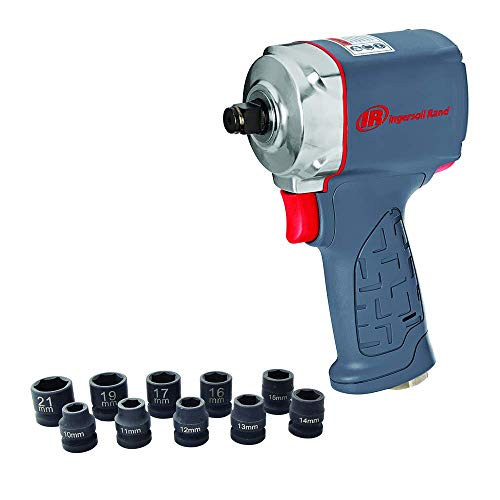 "Ingersoll Rand 1/2"" Ultra-Compact Impact Wrench Kit with Sockets"