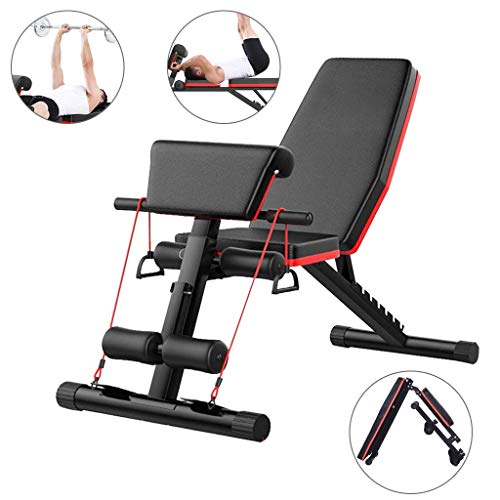 NTWXY Banc de Musculation Complet avec Poids,Banc d'haltères Pliant Multifonctionnel, Utilisable...