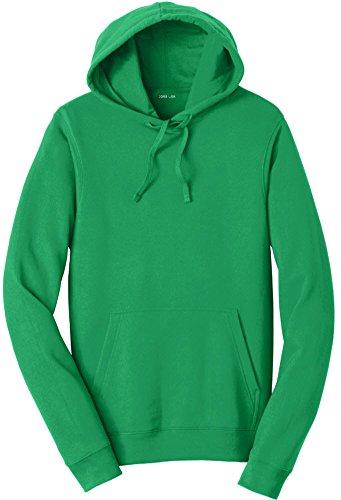Joe's USA 8.5 oz Favorite Fleece Hoodie - Hooded Sweatshirt-Kelly-XL